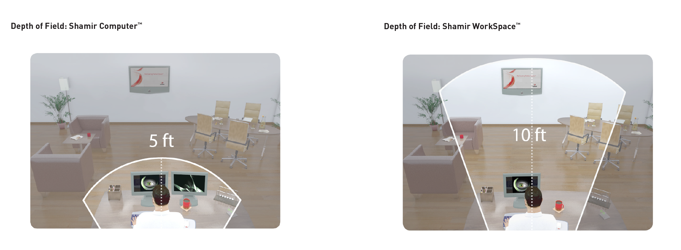 This images shows the difference between a Shamir Office and a Shamir Workplace.