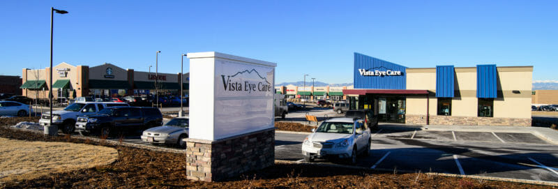 Vista Eye Care is located just north of Starbucks on Colorado Boulevard.  This image shows what our building looks like.
