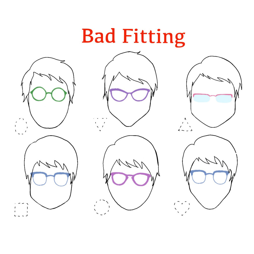 Bad Fitting Eye Glasses