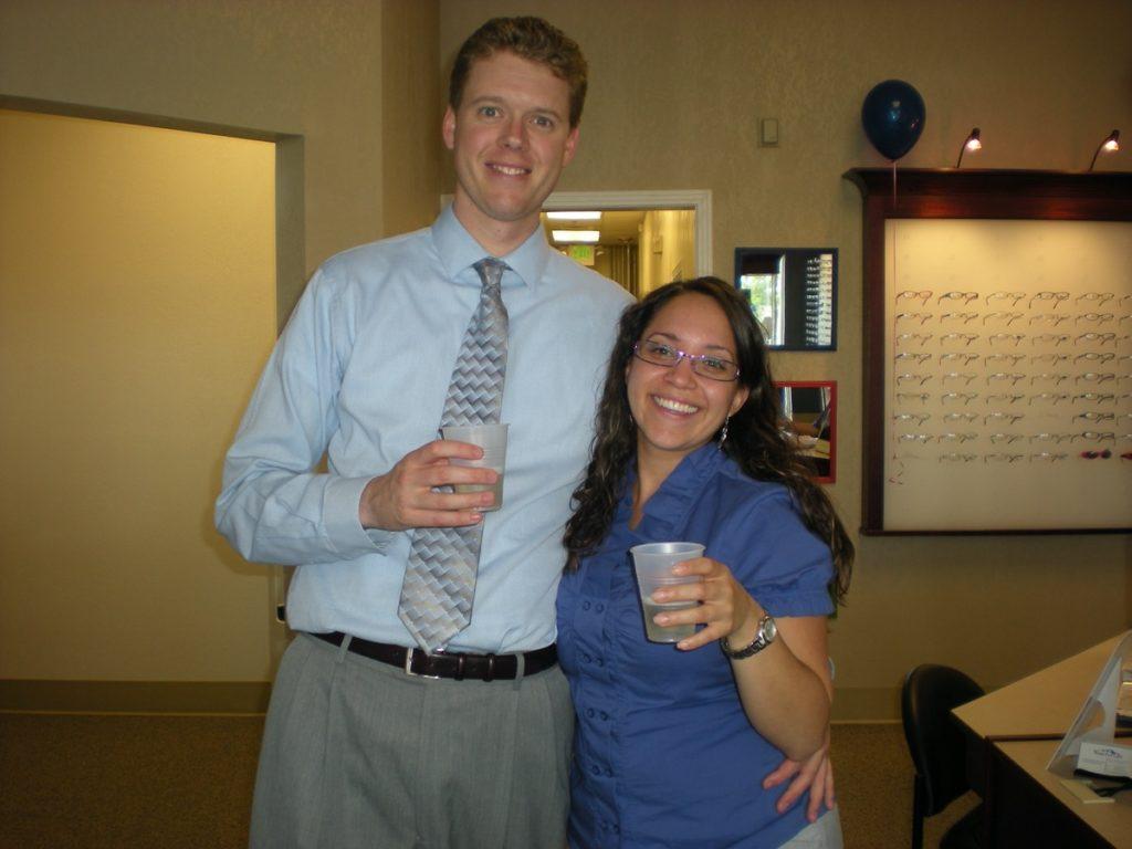 Vista Eye Care founding doctors Brian Abert and Deanna Pedroza.