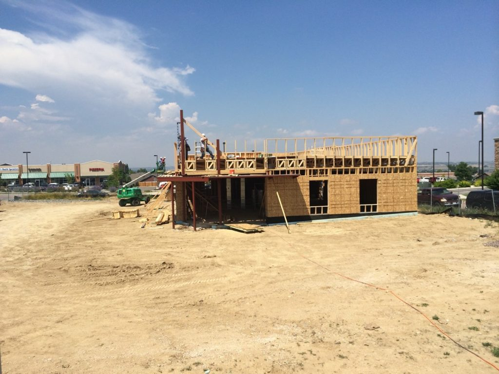 Vista Eye Care's current location was built in 2014.  Here it is under construction!
