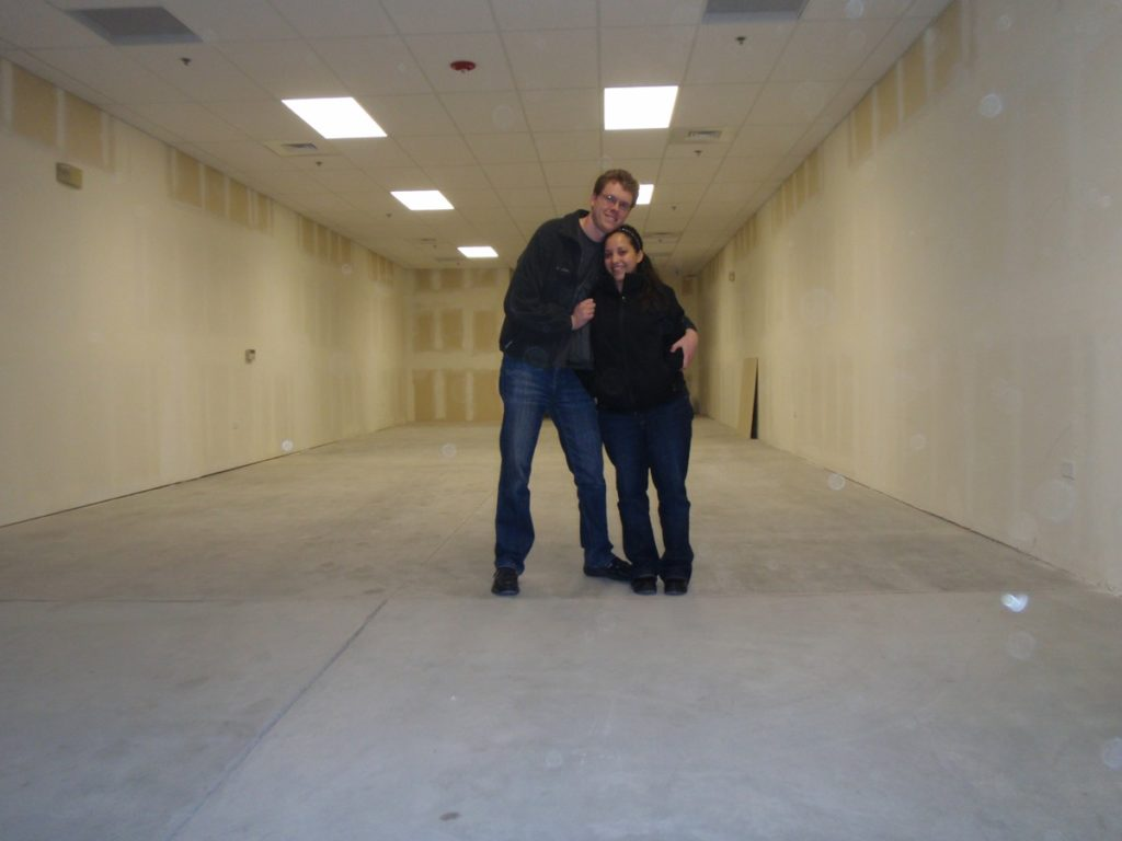 Drs. Abert and Pedroza stand in their newly rented practice space.